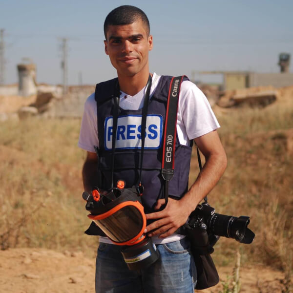 Ahmad Hasaballah, Gaza photographer. Head shot