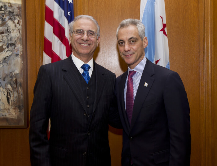 Mayor Emanuel welcomes Ambassador Rachad Bouhlal from Kingdom of Morocco to Chicago