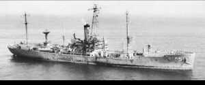 The USS Liberty, attacked by Israel on June 8, 1967. 34 American soldiers were killed and 174 injured. Photo courtesy of Wikipedia