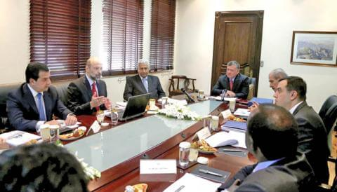 Jordan King Abdullah II urges building on privatization review panel findings