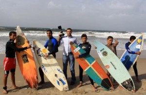 Mohammed Asad on the beach in Gaza Palestine