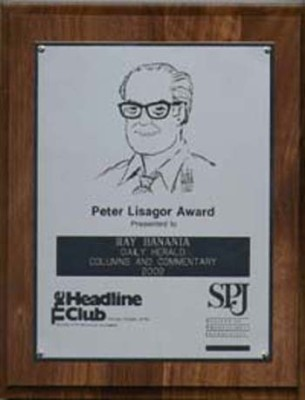 Peter Lisagor Award from the Chicago Headline Club