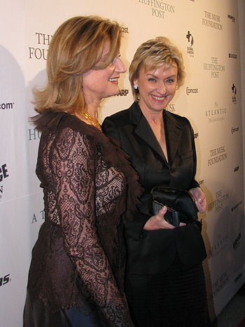 Arianna Huffington and Tina Brown