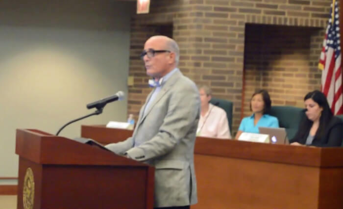 Mayor Gerald Turry addressing hateful comments and outbursts at the Lincolnwood meeting.
