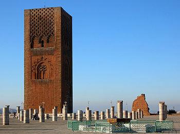 English: Hassan Tower, Rabat, Morocco Français...