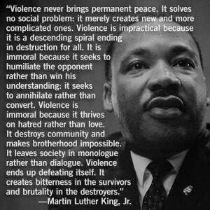 MLK VIOLENCEn