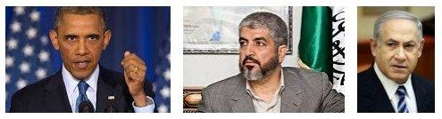 Netanyahu-Obama-Mashaal-Israel-Palestine-Gaza