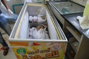 Lack of morgue facilities has forced the people in Gaza to resort to using other cooling methods to cope with the overwhelming number of victims.
