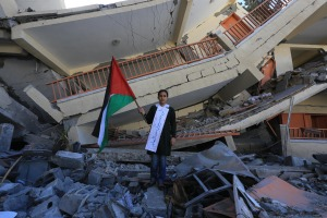 Israel targeted civilians and their homes, and even their hospitals and schools. This school reopened a month after the Israeli invasion (Photo (C) Copyright 2015 Mohammed Asad and may be used with full attribution to Mohammed Asad and The Arab Daily News.)
