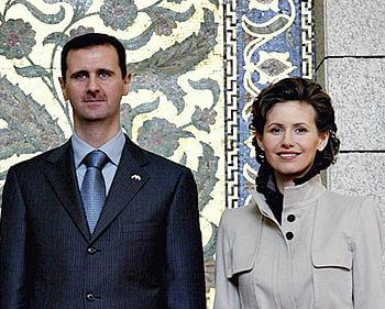 Bashar and Asma al-Assad, President and first-...