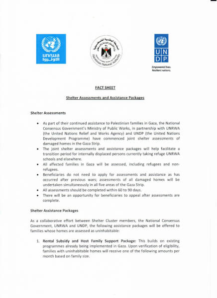 Assessment of civilian needs in Gaza Strip by UNRWA Page 1