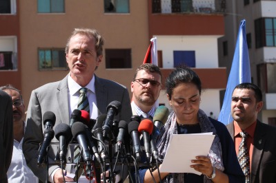 UNRWA officials detail urgent needs of 55,000 Palestinian civilians in the Gaza Strip displaced by Israeli war crimes during the July-August 2014 war