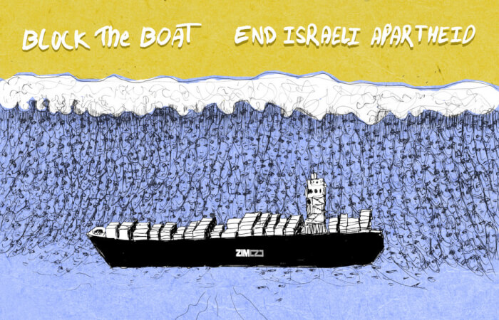 Block the Boat Versus Israeli Zim Shipping Company