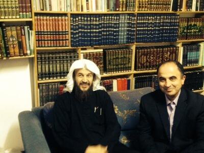 Author writer Ali Younes (right) interviews in Amman, Jordan