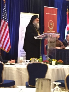 Archbishop of Jerusalem Atallah Hanna at the 16th Annual HCEF Conference in Washington D.C.