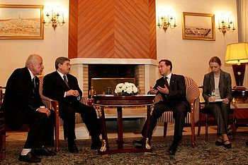 With Prime Minister of Algeria Ahmed Ouyahia.