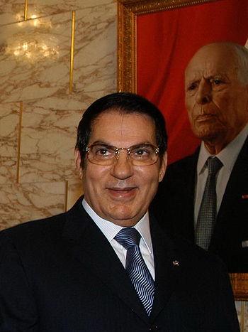 English: Zine El Abidine Ben Ali, President of...