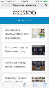 The Arab Daily News App screen Image