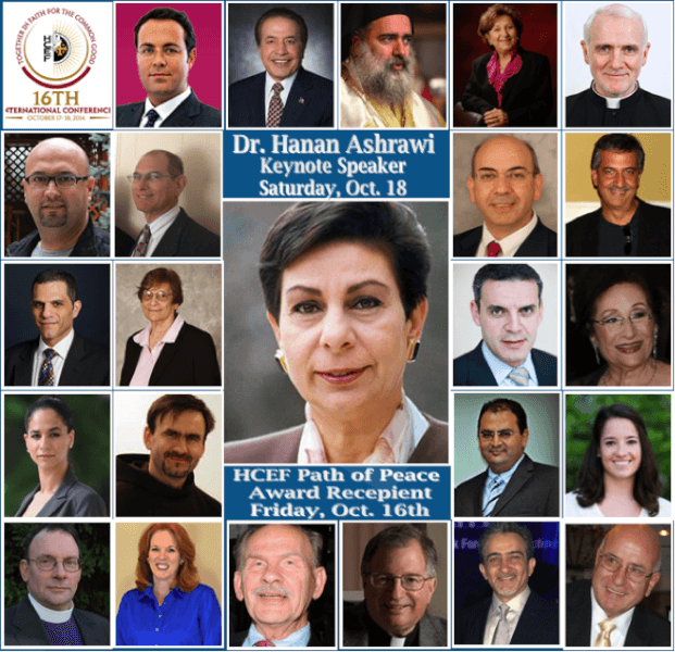 Hanan Ashrawi & Archbishop Atallah Hanna headline HCEF 16th Annual Conference