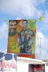 Hezbollah billboards in Lebanon celebrate Sheikh Hasan Nasrallah and the righteous war against Israeli extremism and fanaticism. Photo courtesy of Wikipedia