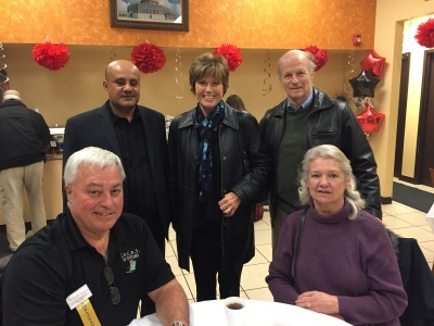 Alowisi with some of the members of the Orland Park Chamber of Commerce
