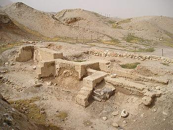 Wykopaliska na Tell es-Sultan w Jerychu (Auton...