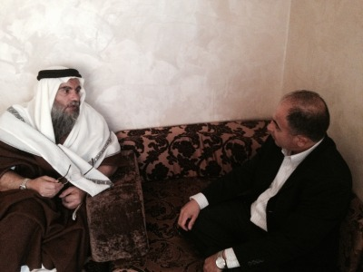 Abu Qatada conducts an exclusive interview with The Arab Daily News editor Ali Younes in Jordan (Nov. 2014)