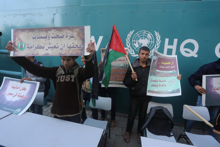 Gaza students call for speedier repair and rebuilding of schools