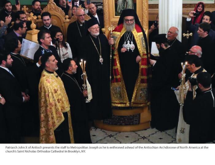 Antiochian American Church enthrone's new Patriarch