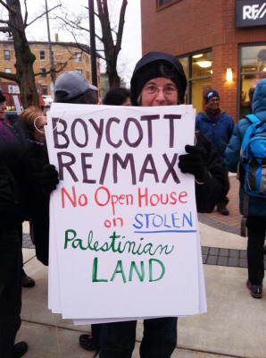 Photo from the BoycottRemax.org website of protests
