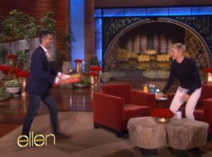 Pizza guy from Oscars delivers pizza to The Ellen Show