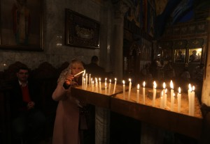 Orthodox Christians in Palestine's Gaza Strip celebrate Christmas, Jan. 7, 2015. Photo Copyright (C) 2015 Mohammed Asad. All Rights Reserved. Permission to republish given with full credit to Mohammed Asad and The Arab Daily News.