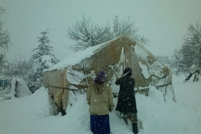 Snow Storms Threatens Syrian Refugees