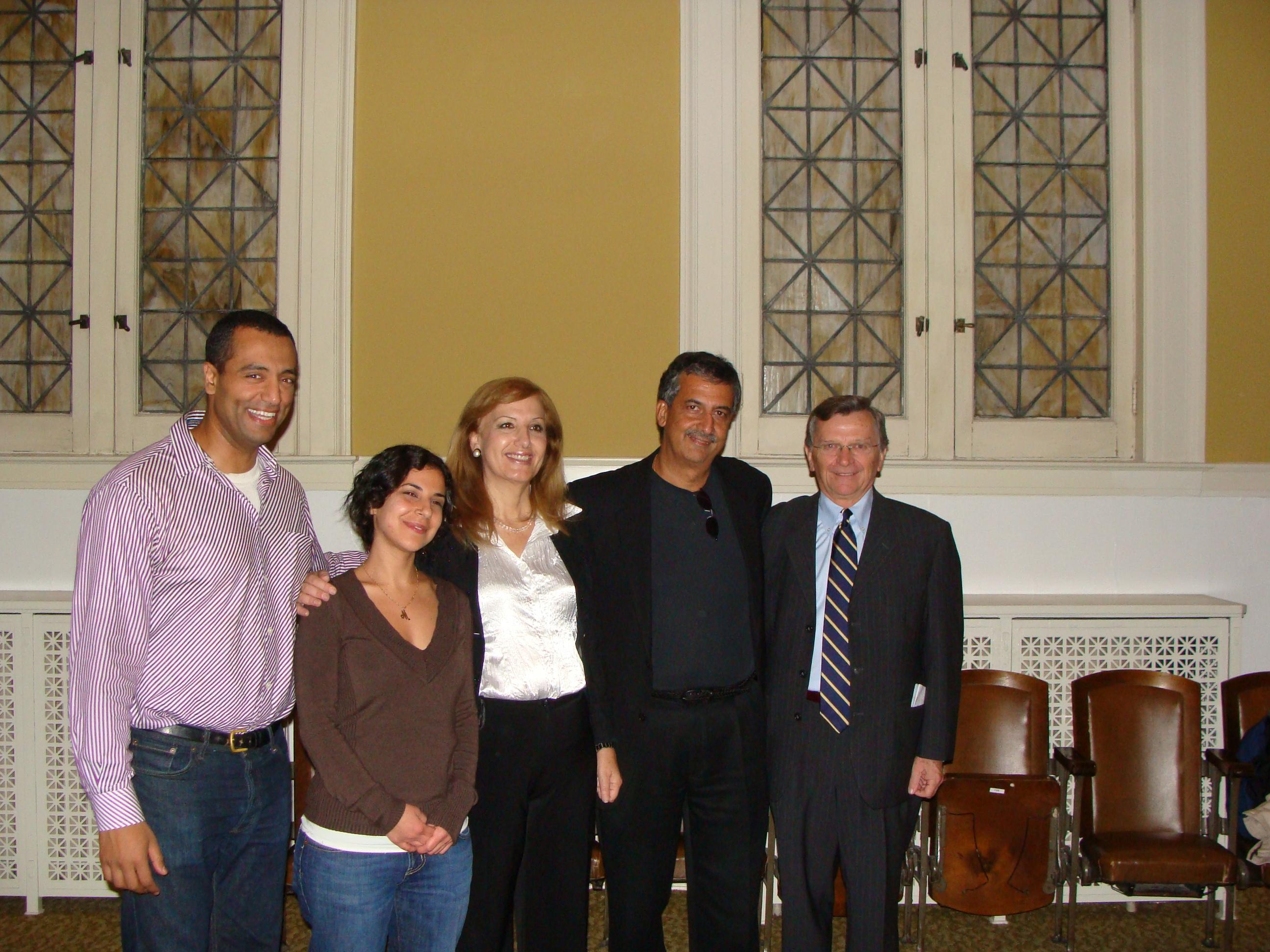 Nasry Malak, Maria Shehata, Nadia Hilou, Ray Hanania and Greg Drinan October 2008