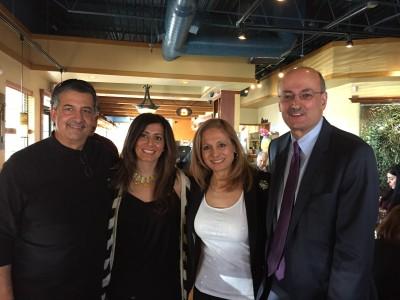 Author Ray Hanania, activist Shadin Maali, Amal David and Warren David. February 2015 at the launch of ArabAmerica.com