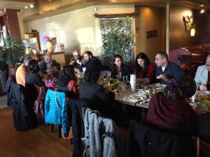Arab American meeting with Warren and Amal David