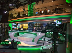 Al Arab Satellite TV News Station studios