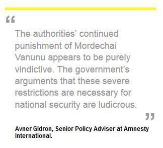 Amnesty International Calls for Action to Free Vanunu