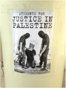 Anti-Arab Hate posters at UCLA targeting BDS
