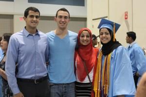 Deah Barakat, Yusor and Razan Abu-Salha (from Barakat's Facebook Page.)