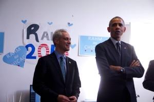 Mayor Rahm Emanuel receives the endorsement of President Barack Obama. Photo Emanuel Facebook Page.