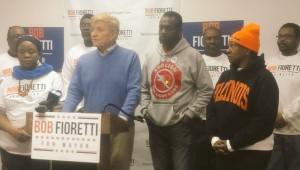 Ald. Bob Fioretti had strong support in the African American community. Photo Fioretti Facebook Page.