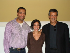 Nasry Malak, Maria Shehata,  Ray Hanania  October 2008, Oak Park, Illinois
