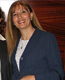 Nadia Hilou, Palestinian Israeli member of the Knesset, 2006-2009. (B 1953. D 2015)