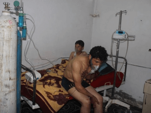 Victims of chemical weapons attacks in Syria being treated by doctors and volunteers through SAMS
