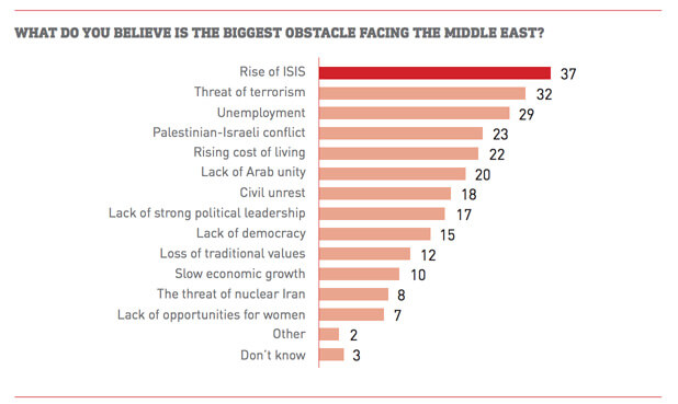 Israeli occupation remains a top concern of Arab Youth
