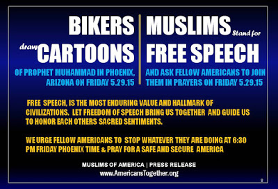 Let the Bikers draw Muhammad Cartoons in Arizona