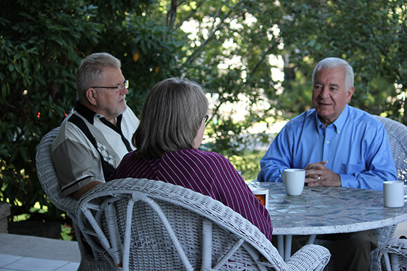 Congressman Nick Rahall with constituents