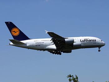 D-AIMA, 1st Lufthansa A380 at Dusseldorf Inter...