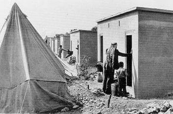 Palestinian refugees in Aida Refugee Camp, Bet...
